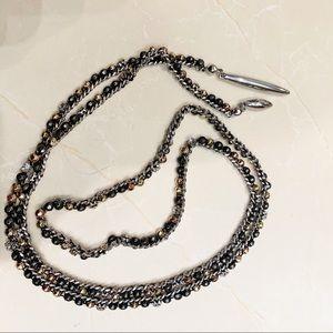 "Stella & Dot Zoe Mixed Metal Lariat Necklace 41"""